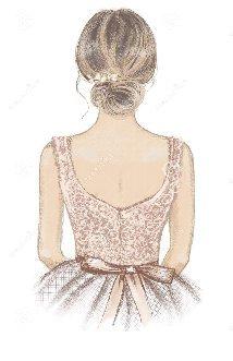 ドレス背中